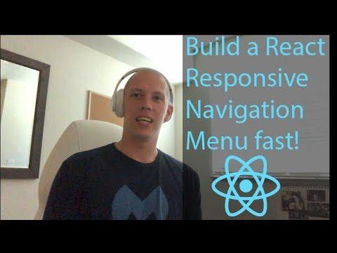 React Responsive Navigation Menu w/ React Hooks thumbnail