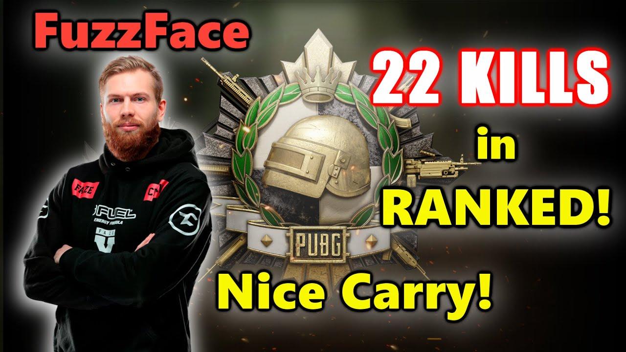 FaZe FuzzFace - 22 KILLS in RANKED! - M416 + Mini14 - Nice Carry! - PUBG