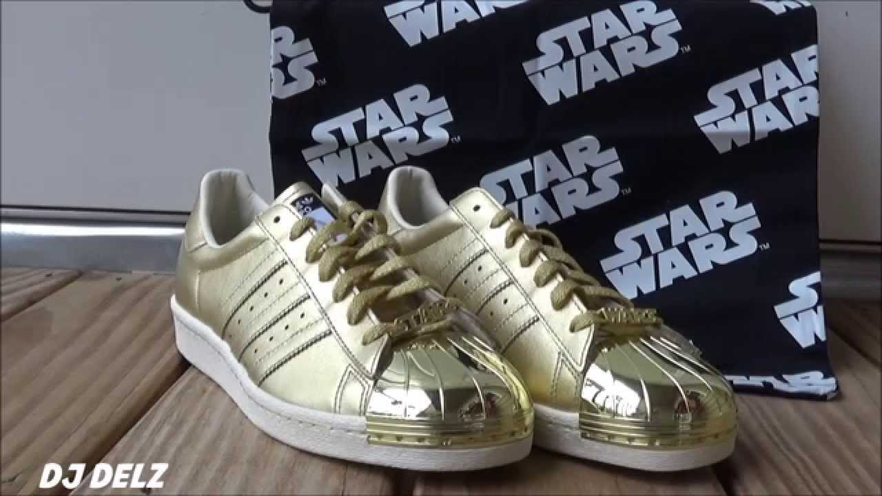 44cc6116ecca Star Wars C3P0 adidas Superstar Shoe Unboxing Review - YouTube