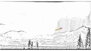 Auto Draw 2: Aurora Borealis Over Mount McKinley, Denali National Park, Alaska