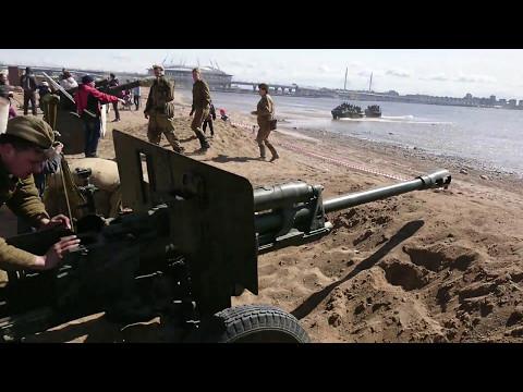 Выстрел из пушки ЗИС-3