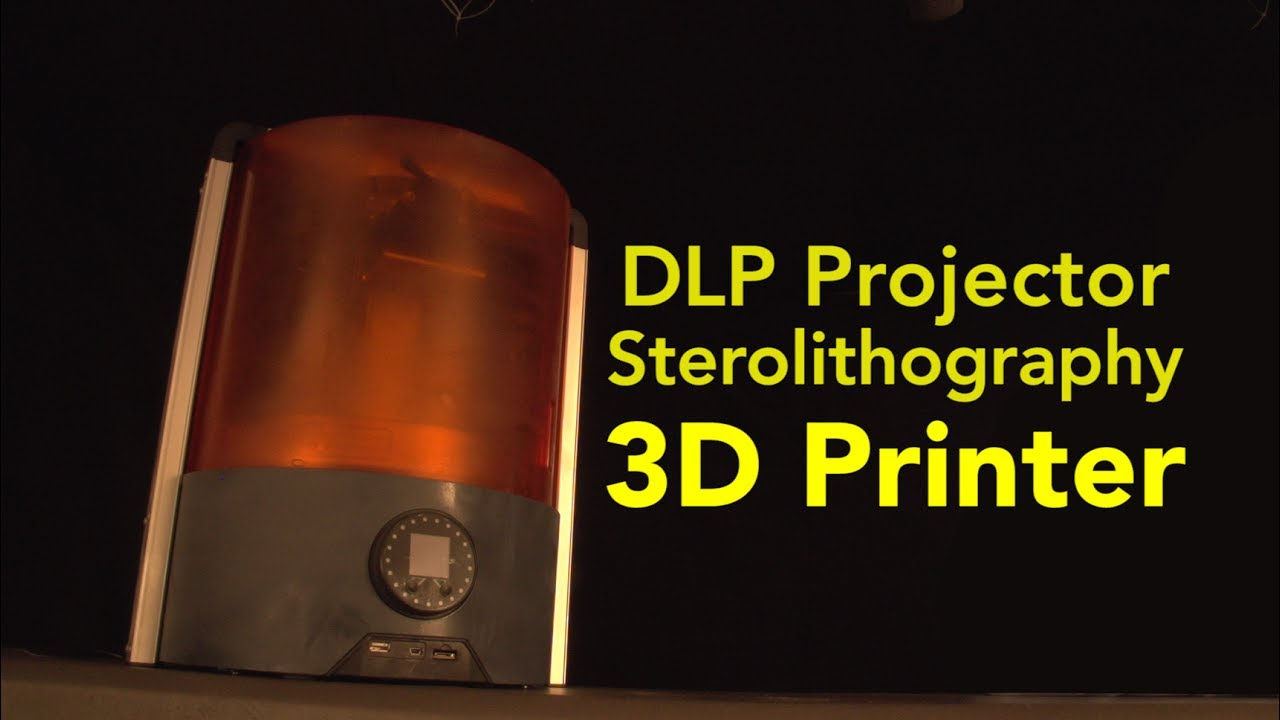 DLP Projector Stereolithography 3D Printer