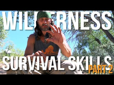 Wilderness Survival Skills Pt 2/4: Flint Knapping & Atlatl