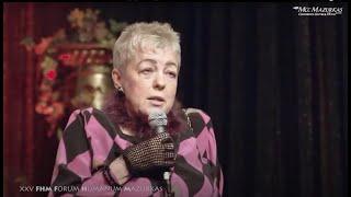 XXV Forum Humanum Mazurkas-Janina Tuora-credo artystyczne na jubileusz FHMazurkas