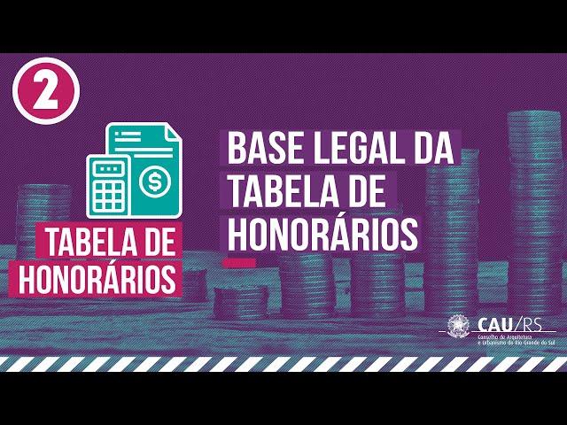 2  Base Legal da Tabela de Honorários de Arquitetura e Urbanismo