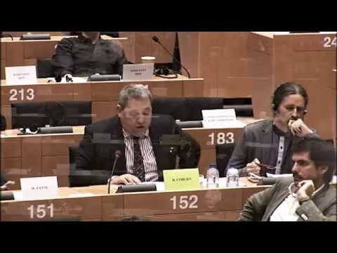ECB chief Draghi failing to appear and face charges before Irish parliament - David Coburn MEP