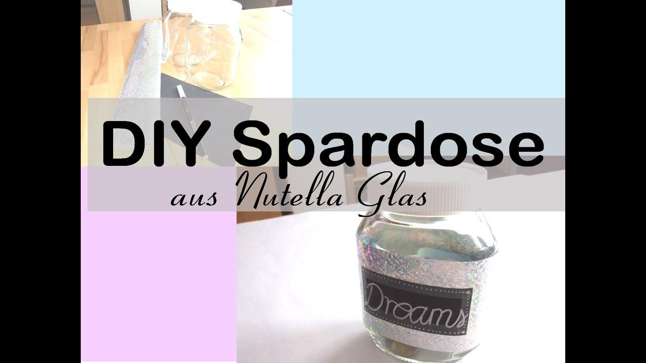 diy spardose aus nutella glas diy money jar youtube. Black Bedroom Furniture Sets. Home Design Ideas