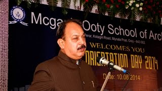 McGAN'S Ooty School of Architecture - 7th Orientation Day - 10th August 2014