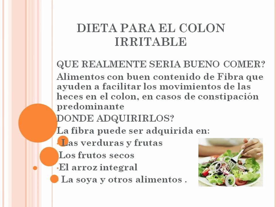 Dieta para colon irritable con gases