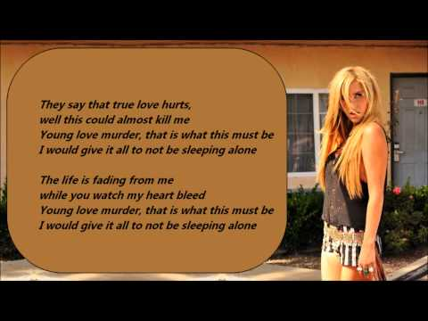 Ke$ha - The Harold Song /\ Lyrics On A Screen