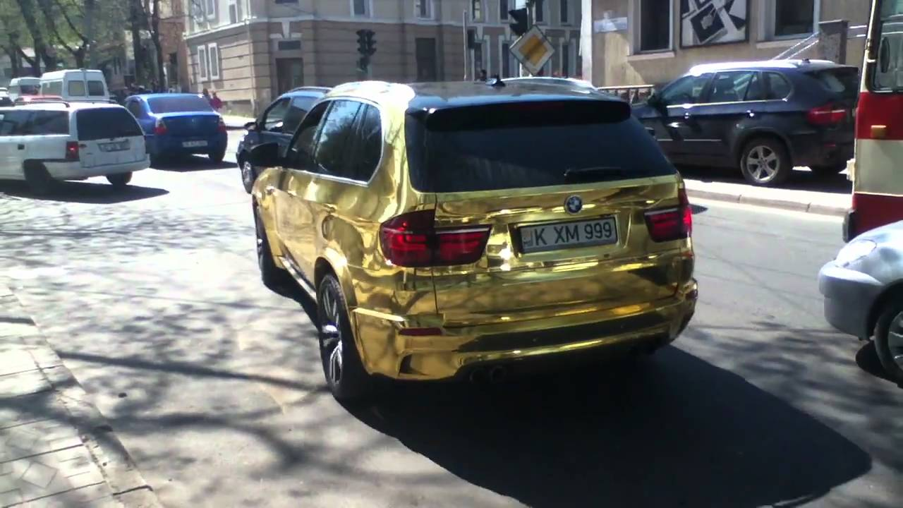Gold Bmw X5 M On Chisinau S Streets Youtube