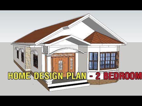 House design one storey. Home design plan with two bedroom