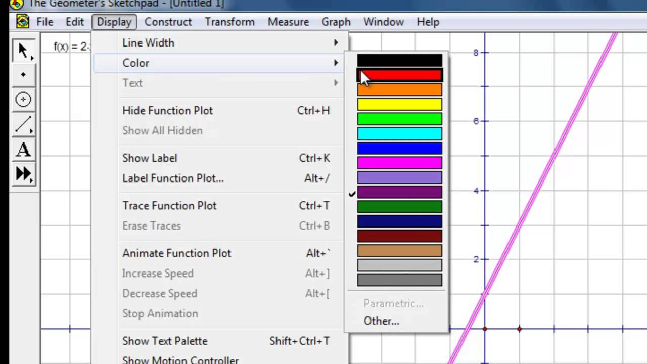 Cách vẽ đồ thị hàm số bằng phần mềm SkechPad