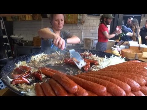 HOT DOG, SAUSAGE, POLISH KIELBASA, HOT DOG SANDWICH, LONDON STREET FOOD,