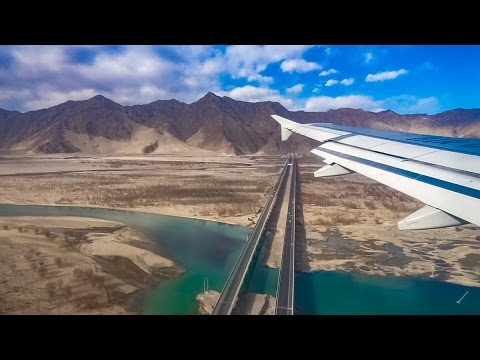 Landing at Lhasa Airport,Tibet