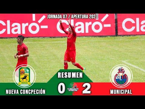 Nueva Concepción 0 vs Municipal 2 / RESUMEN Y GOLES / Jornada 07 Apertura 2021