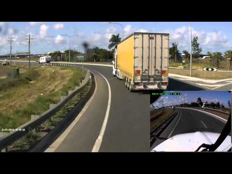 [AUSCAM] 09-10-2014 - Two trucks and a caravan engage in some mutual road rage (Paget, Mackay)