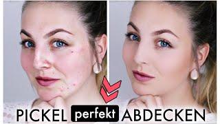 PICKEL ABDECKEN! - Perfekte Haut mit Drogerieprodukten TUTORIAL ♡