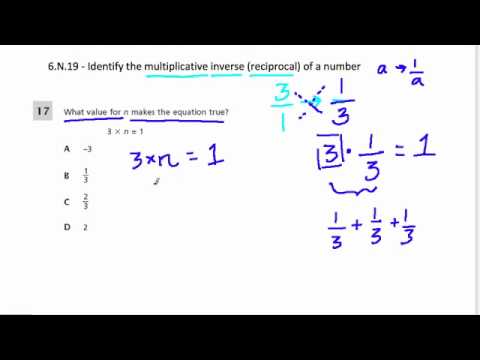 Multiplicative Inverse And Reciprocals