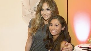 Jennifer Lopez Styles Fan for her Quinceañera