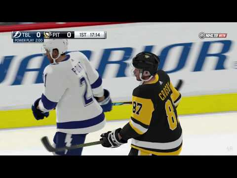 NHL 19 - Tampa Bay Lightning vs Pittsburgh Penguins Online Gameplay PS4