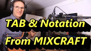 Create TAB and Music Notation from Mixcraft Pro - using MIDI files into a free Noteflight account