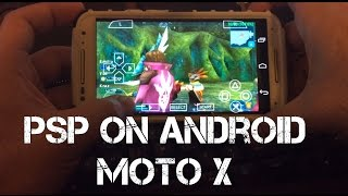 Playing Phantasy Star Portable 2 on Android Phone Moto X (2014 edition) - PPSSPP Emulator