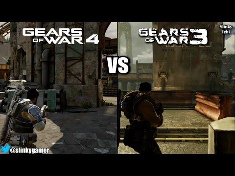 gears of war 4 vs gears of war 3 graphics comparison gameplay