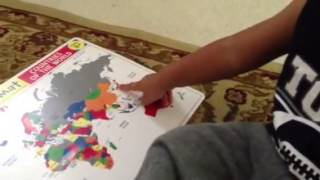 Toddler can identify most countries on the World Map!