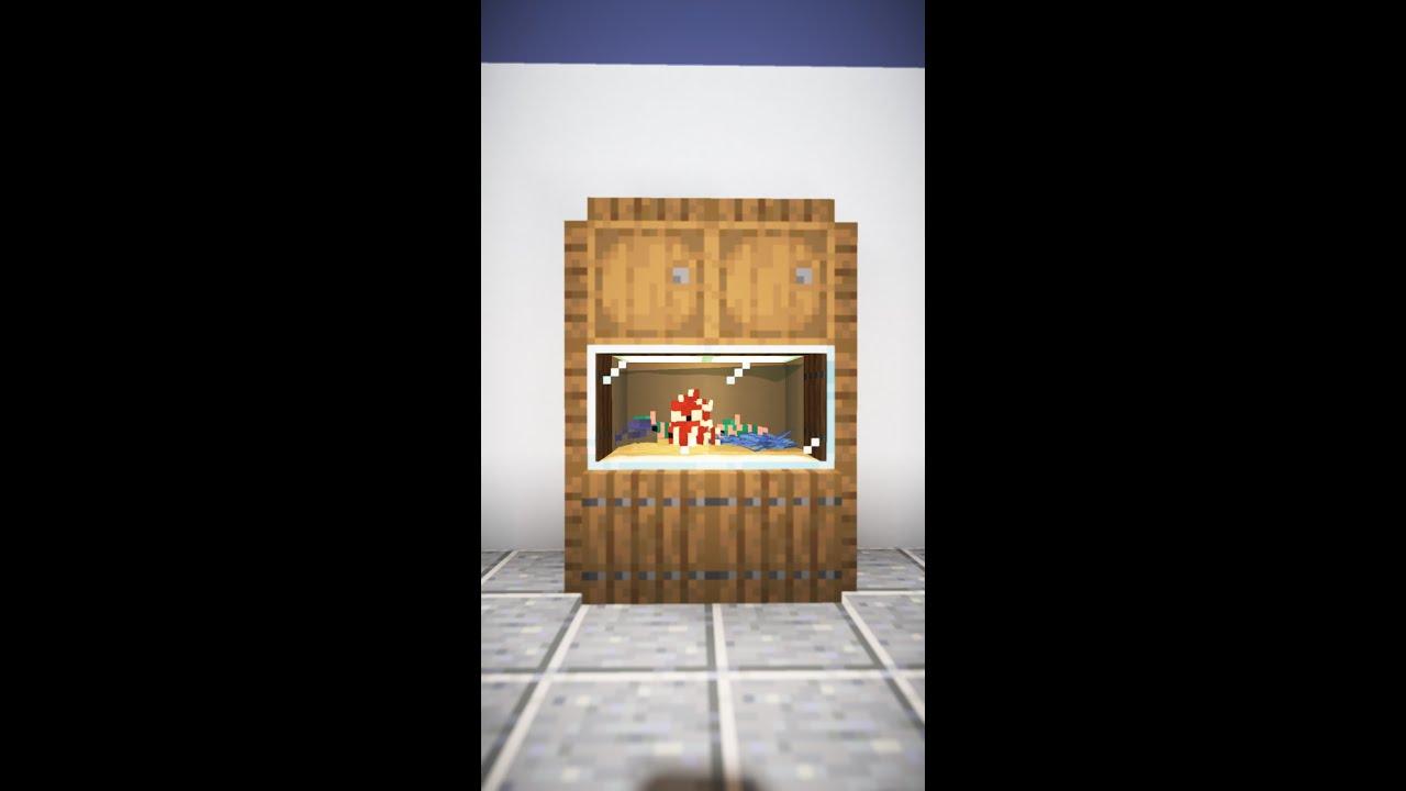 Minecraft | Mini Fish Tank Cabinet #Shorts