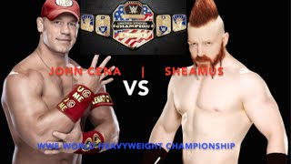 WWE - Royal Rumble - US CHAMPIONSHIP - John Cena vs. Sheamus (Trampoline)