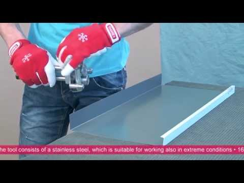 Forming a Mechanically Locked Standing Seam Profile by Hand
