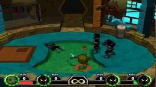 TMNT Mutant Melee PC 1080P HD Playthrough with LEONARDO - TURTLES