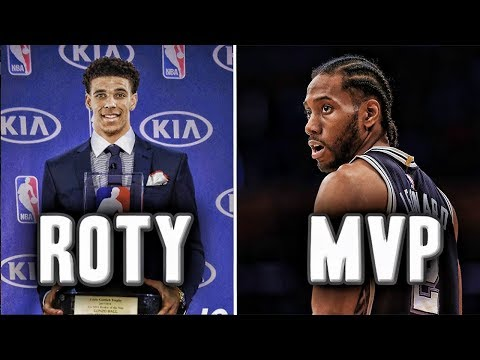 2018 NBA Award Predictions | Kawhi Wins MVP? | Lonzo Ball Rookie Of The Year?