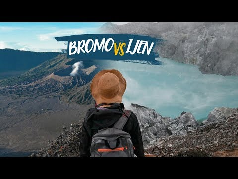 Mount Bromo VS Ijen Crater INDONESIA - Globe in the Hat