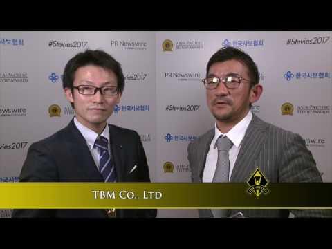 TBM Co, Ltd Discuss Their 2017 Stevie Award Win