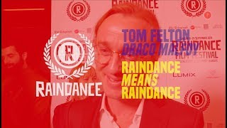 Tom Felton 'Draco Malfoy' Harry Potter | Raindance Film Festival 2019 | Popcorn Hub Official
