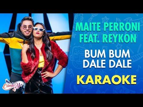 Maite Perroni & Reykon - Bum Bum Dale Dale (Video Oficial) Karaoke | CantoYo