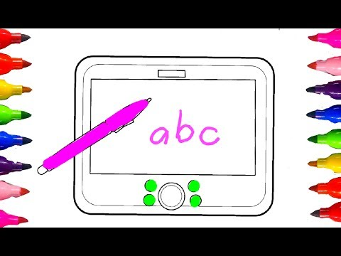 Coloring Book Pages for Kids How to Draw and Color Tablet