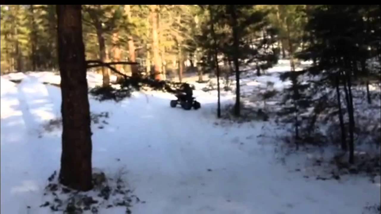kazuma falcon 110 atv in the snow youtube 1980s Youth ATV kazuma falcon 110 atv in the snow