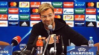 Jurgen Klopp Full Pre-Match Press Conference - Spartak Moscow v Liverpool - Champions League