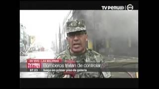 EJERCITO LLEVA DESAYUNO A BOMBEROS   TV PERÚ