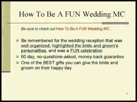 Memorable Wedding - How To Be A Fun Wedding Mc - Youtube