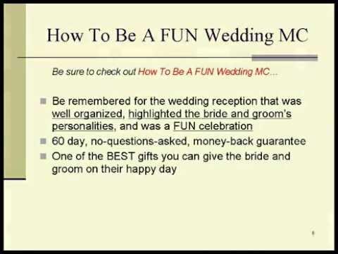 Memorable Wedding - How To Be A FUN Wedding MC - YouTube - Wedding Speech Example