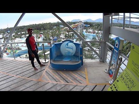 Scary Magic Water Slide at Santorini Water Fantasy