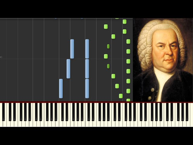 J.S. Bach - Toccata and Fugue in D Minor - Piano tutorial - How to Play (Synthesia)