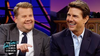 Tom Cruise Challenges James Corden to go Skydiving