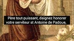 Prière très efficace à Saint Antoine de Padoue