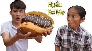 Hưng Vlog - Thử Thách Mẹ Ăn Con Ốc Giác Vàng Khổng Lồ 3Kg Thua Phạt 10 Triệu