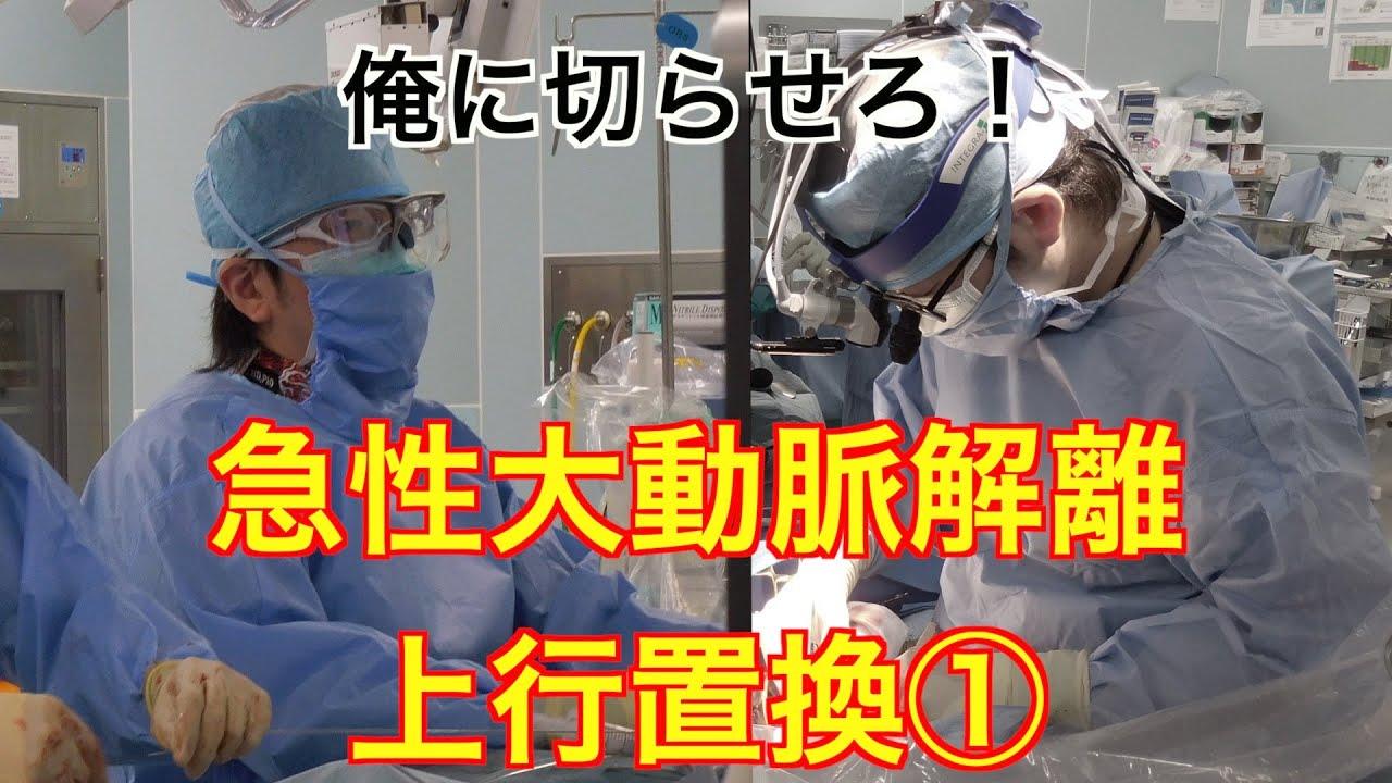 大動脈 解離 手術 時間